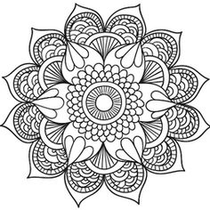 line drawing mandala Mandalas Painting, Mandalas Drawing, Mandala Coloring Pages, Coloring Book Pages, Tattoo Painting, Dot Painting, Mandala Pattern, Zentangle Patterns, Zentangles