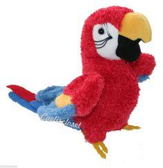 "Douglas Gabby RED PARROT 8"" Plush Scarlet Macaw Bird Stuffed Animal Cuddle NEW #DouglasCuddleToy"