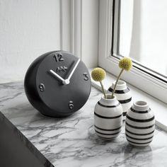 Kähler | Ora - ceramic clock | design by Birgitte Due Madsen & Jonas Trampedach