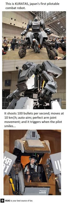 Giant pilotable robot. My dreams have come true.
