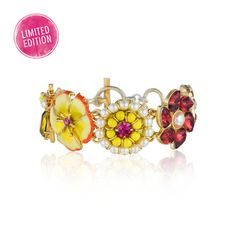 Hothouse Flowers Collage Toggle Bracelet | Your Merchandiser is me! Click the pic, sign in and get shopping before our Limited Edition jewels run out!!