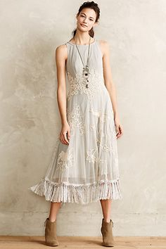 Winter Solstice Dress looks adorable #anthropologie would look awesome with the brown leather jacket I got from Stitch Fix