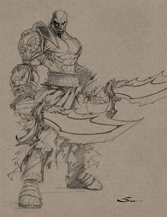 KRATOS SKETCH by Sandoval-Art