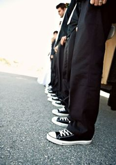 I would totally have the groomsmen wear converse!