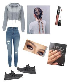 """""""Untitled #74"""" by haileymagana on Polyvore featuring River Island, adidas Originals and NARS Cosmetics"""