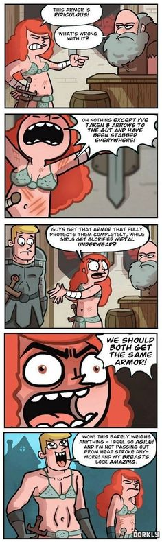 The problems with female armor.