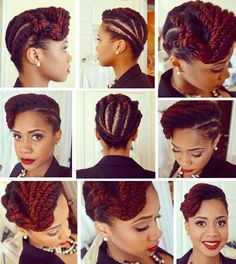 Flat twist updo by Toni of My Natural Sistas #protectivestyling http://www.mynaturalsistas.com/pretty-sistas/hair/two-strand-flat-twist-updo-on-natural-hair/