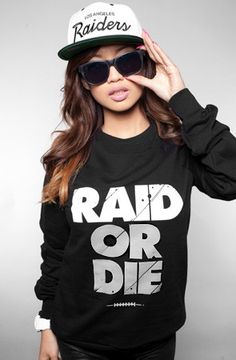 Oakland Raiders, Raid or Die black sweater! Quality products and material from Adapt Clothing. Sweatshirt for NFL team Oakland Raiders. Raiders Shirt, Raiders Stuff, Raiders Baby, Raiders Vegas, Raider Game, Oakland Raiders Football, Oakland Raiders Memes, Nfl Raiders, Raider Nation