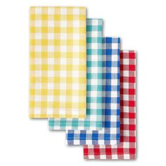 Free 2-day shipping. Buy The Pioneer Woman Gingham Woven Fabric Napkins, Set of 4 at Walmart.com Gingham Fabric, Red Gingham, Woven Fabric, Blue Kitchen Curtains, Yellow Kitchen Decor, Cloth Napkins, Napkins Set, Ree Drummond, Dining Decor