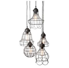 Edison Industrial cage lamp -  DIY lamp set - industrial style - hanging lamp - Edison bulb lamp -110V-250V on Etsy, $69.99