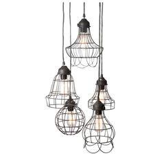 Edison Industrial cage lamp -  DIY lamp set - industrial style - hanging lamp - Edison bulb lamp -110V-250V on Etsy, $69.99