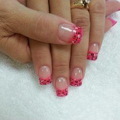 Cheetah print nails designs