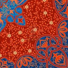 floral arabesque background