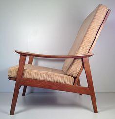 Vintage Mid Century Danish Modern Hi Back Lounge Chair Yugoslavia Retro | eBay