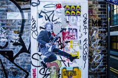 The queen rocking out. East end London