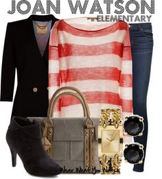 Inspired by Lucy Liu as Joan Watson on Elementary. Yes, whoever does the wardrobe on Elementary - kudos. Lucy Liu and Johnny Lee Miller always look good!