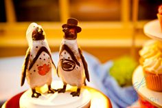 Penguin Cake toppers are perfect for a wedding at the Maryland Zoo!