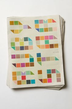 This colorful, illustrative publication was designed as apromotional piece by Blake C. Tannery for surface designer Melody Miller.