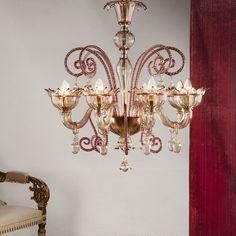 Mocenigo Red Classic #yourmurano #muranoglass #chandeliers