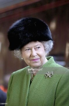 Queen Elizabeth II leaves by Royal Train from Bristol Temple Meads Station after a one day visit to Bristol on February 25, 2005 in Bristol, England.