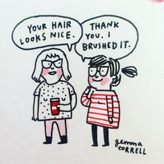 """173 Likes, 7 Comments - Gemma Correll (@gemmacorrell) on Instagram: """"When you set your standards v low, it is v easy to impress people. #sketchbook"""""""