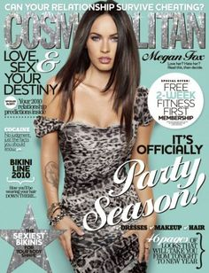 On the cover of Cosmopolitan.