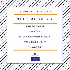 Coming soon in Avon! 4 bed 1 bath on over an acre of land. Going live on 3/17. Call Melanie Graczyk with questions - 440-759-0540 #avonohio #cutlerrealestate #chasegroup #sellingfast