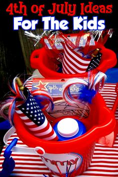 of July Party Ideas for Kids - Fun July Activities for Kids Party Ideas for Your of July Backyard Cookout or Neighborhood Block Party – Such creative of July party ideas on this page! of July party decorations, food … Fourth Of July Decor, 4th Of July Celebration, 4th Of July Decorations, 4th Of July Party, 4th Of July Ideas, Fourth Of July Crafts For Kids, Fourth Of July Recipes, 4th July Crafts, July 4th Wedding