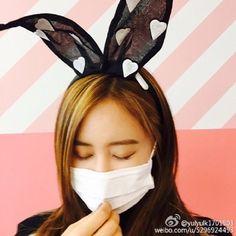 少女時代 ユリ、マスクをしたバニーガールに変身!?