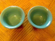 Fiesta Ware Turquoise Small Bowls for Dip or Snacks Set of Two New