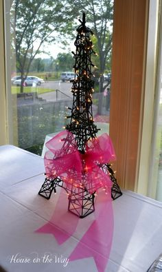 Paris Party Decor, cute for bridal shower or some girly event!