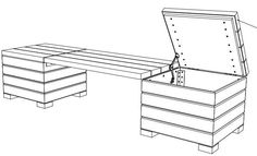 Patio storage bench plans Better Homes and Gardens DIY how to make an outdoor bench seat Build a BIG Outdoor Storage Bench by Home Repair Tutor See more about deck storage Patio Storage Bench, Outside Storage Shed, Outdoor Storage Sheds, Balcony Bench, Planter Bench, Storage Building Plans, Storage Shed Plans, Built In Storage, Diy Shed