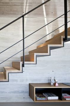 Timber steps with black steel by pitsou kedem