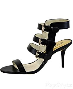 Michael Kors Beverly High Heel Strappy Leather Sandal