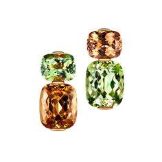 Thomas Jirgens Juwelenschmiede - FOREST SECRET Tourmalines and beryls in rose gold. Jewelry Design Earrings, Ear Jewelry, Women's Earrings, Diamond Jewelry, Jewelry Accessories, Month Gemstones, Pakistani Jewelry, Magical Jewelry, Modern Jewelry