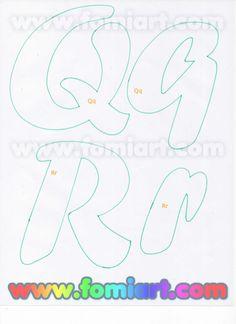Moldes Gratuitos: 31- Abecedario Gratuito Estilo Fomiart con Maestra con Manzana Creative Lettering, Lettering Styles, Lettering Design, Alphabet Art, Monogram Alphabet, Alphabet Fonts, Free Printable Numbers, Felt Name, Beautiful Notes