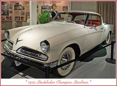 1953 Studebaker Champion Starliner Coupe Classic Car Garage, Classic Cars, Weird Cars, Cool Cars, Cowgirl Photo, Automobile, Big Girl Toys, Indiana, Dream Garage