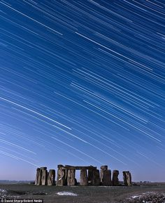 Night-sky: The Milky Way looks stunning above Stonehenge in this picture