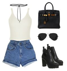 """""""Outfit #19"""" by ancara on Polyvore featuring Hermès, Aamaya by Priyanka, Office and Ray-Ban"""