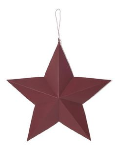 3D Country Red Metal Stars