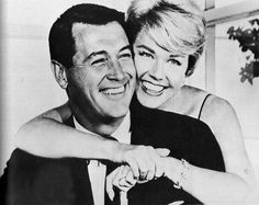 Just love all their movies. What a hunk he was. Rock Hudson and Doris Day, 1959