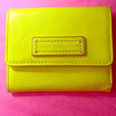 """Spotted while shopping on Poshmark: """"🎉HPx5🎉Marc by Marc Jacobs neon yellow wallet""""! #poshmark #fashion #shopping #style #Marc by Marc Jacobs #Clutches & Wallets"""