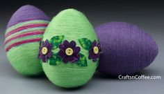Easter Eggstravaganza Week: Wrap up a yarn egg (& two needlefelted egg tutorials, too)