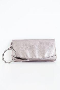 Bayan Gri Detaylı Zarf Kesim Çanta