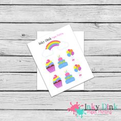New to InkyDinkPrinting on Etsy: 7 Rainbow Party Cake Balloons Cupcake Sample Sheet Planner Stickers Erin Condren Happy Planner Sticker Sampler EC Life Planner SP-44 (1.50 USD)