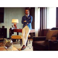 Sprezzatura-Eleganza | konradolsson:   A beautiful check-in…    #london...
