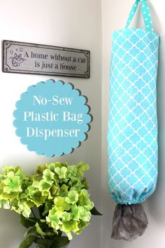 Learn how to make your own DIY No Sew Plastic Bag Dispenser, on the blog today! scrappygeek.com/... #UltimateLitter   ad