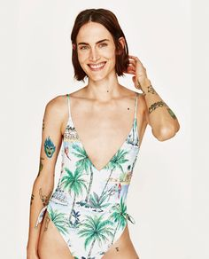 ZARA - WOMAN - PRINTED SWIMSUIT