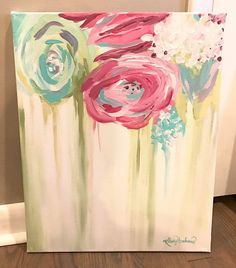 Painting Ideas Canvases Pictures Ideas For 2019 - Kunst Diy Painting, Painting & Drawing, Painting Abstract, Toile Photo, Arte Floral, Painting Inspiration, Diy Art, Flower Art, Art Drawings