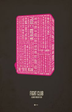 Typographic Posters of Pop Culture Classics by Jerod Gibson: Fight Club